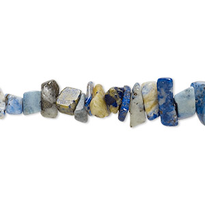 bead, lapis lazuli (dyed), small chip, mohs hardness 5 to 6. sold per 15-inch strand.