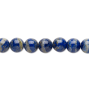 bead, lapis lazuli (natural), 7-8mm round, c grade, mohs hardness 5 to 6. sold per 15-inch strand.