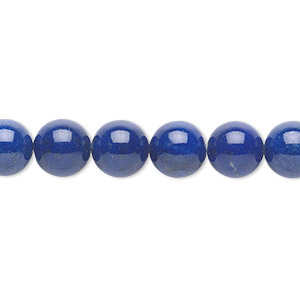 bead, lapis lazuli (natural), 8mm round, a- grade, mohs hardness 5 to 6. sold per 16-inch strand.