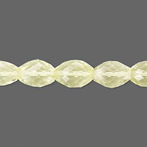 bead, lemon quartz (heated), 11x8mm hand-cut faceted oval, b grade, mohs hardness 7. sold per pkg of 10.