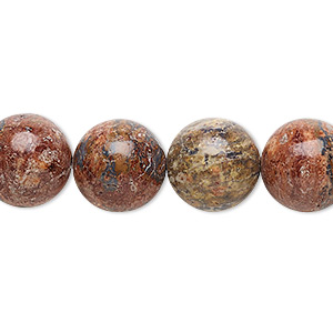 bead, leopardskin jasper (natural), 12mm round, b grade, mohs hardness 6-1/2 to 7. sold per 16-inch strand.
