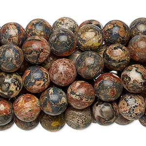 bead, leopardskin jasper (natural), 8mm round, c grade, mohs hardness 6-1/2 to 7. sold per pkg of (10) 16-inch strands.