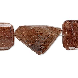 bead, lodolite (natural), small to large hand-cut faceted nugget, mohs hardness 7. sold per 7-inch strand.