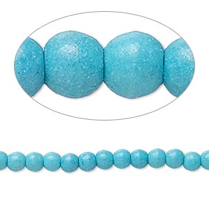 bead, magnesite (dyed / stabilized), teal, 3x2mm-4x4mm rondelle, c- grade, mohs hardness 3-1/2 to 4. sold per 15-inch strand.
