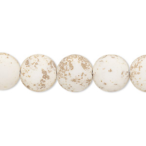 bead, magnesite (stabilized), matte white, 12-13mm puffed flat round, c- grade, mohs hardness 3-1/2 to 4. sold per 15-inch strand.