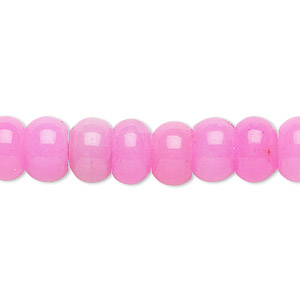 bead, malaysia jade (dyed), dark fuchsia, 10x6mm-11x7mm rondelle, b grade, mohs hardness 7. sold per 15-inch strand.