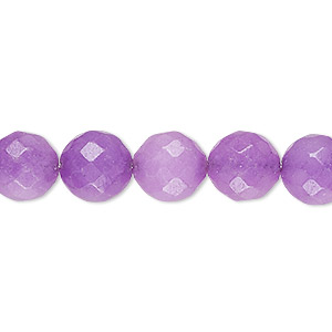 bead, malaysia jade (dyed), mountain purple, 10-11mm faceted round, c grade, mohs hardness 7. sold per 14-inch strand.