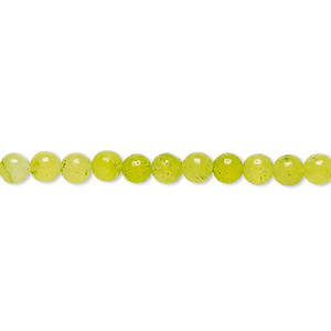 bead, malaysia jade (dyed), neon green, 4-5mm round, c grade, mohs hardness 7. sold per 14-inch strand.