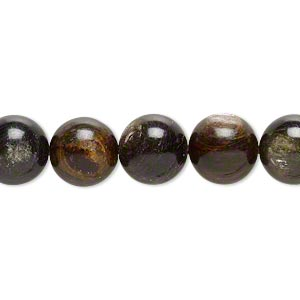 bead, mica (coated), 10mm hand-cut round, b grade, mohs hardness 2. sold per 16-inch strand.