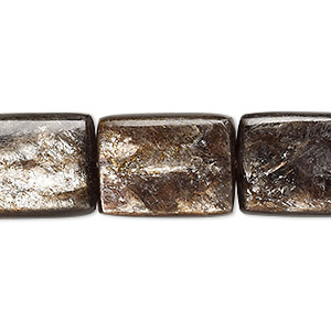 bead, mica (coated), 20x15mm flat rectangle, b grade, mohs hardness 2. sold per 8-inch strand, approximately 5 beads.