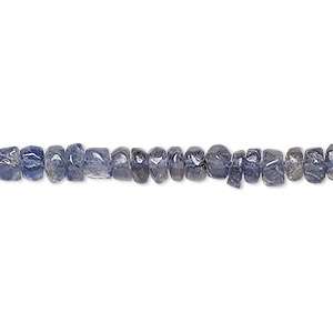 bead mix, iolite (natural), 3mm-9x8mm hand-cut mixed shape, d grade, mohs hardness 7 to 7-1/2. sold per 13-inch strand.