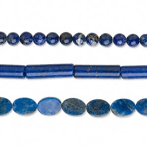bead mix, lapis lazuli (natural), 3-14mm mixed shape, c grade, mohs hardness 5 to 6. sold per pkg of (3) 15-inch strands.