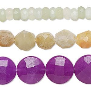 bead mix, multi-gemstone (natural / dyed / stabilized / heated / manmade / imitation) and glass, mixed colors, 7x5mm-19x4mm mixed faceted shape, mohs hardness 3 to 7. sold per pkg of (3) 15-inch strands.