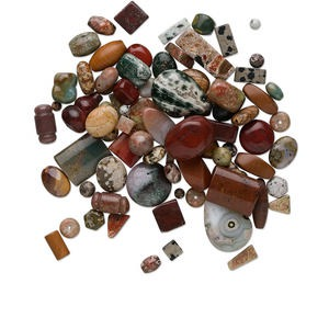 bead mix, multi-jasper (natural), 4-35mm mixed shape, c grade, mohs hardness 6-1/2 to 7. sold per 250-gram pkg, approximately 200-300 beads.