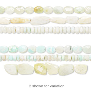 bead mix, multi-opal (natural / dyed), 11x5mm-33x22mm hand-cut mixed shape, d grade, mohs hardness 5 to 6-1/2. sold per pkg of (3) 14-inch strands.
