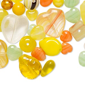 bead mix, preciosa czech pressed glass, mixed colors, 4mm-18x15mm mixed shape. sold per 1/4 pound pkg, approximately 150-200 beads.