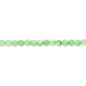 bead, mother-of-pearl shell (dyed), mint green, 3mm round. sold per 16-inch strand.