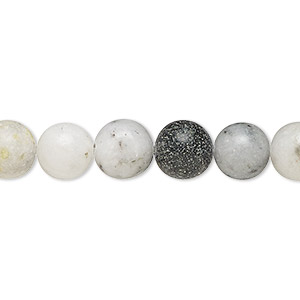 bead, mountain jade (natural), 7-9mm round, c grade, mohs hardness 3. sold per 15-inch strand.