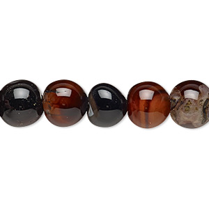 bead, multi-agate (dyed / heated), 9-10mm non-uniform round, d- grade, mohs hardness 6-1/2 to 7. sold per 13-inch strand.
