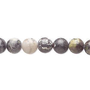 bead, multi-serpentine (natural), 8-9mm round, d grade, mohs hardness 2-1/2 to 6. sold per 15-inch strand.