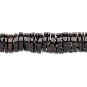 bead, pen shell (natural), 11-12mm hand-cut heishi, mohs hardness 3-1/2. sold per 16-inch strand.