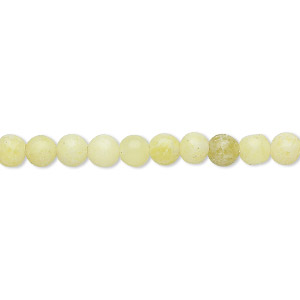 bead, peridot jasper (natural), 4mm round, c- grade, mohs hardness 6-1/2 to 7. sold per 15-inch strand.