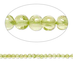 bead, peridot (natural), 2-3mm hand-cut round, c grade, mohs hardness 6-1/2 to 7. sold per 13-inch strand.