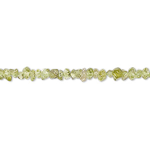 bead, peridot (natural), mini hand-cut tumbled nugget, mohs hardness 6-1/2 to 7. sold per 12-inch strand.