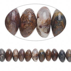bead, pietersite (natural), 8x4mm rondelle, b grade. sold per 16-inch strand.
