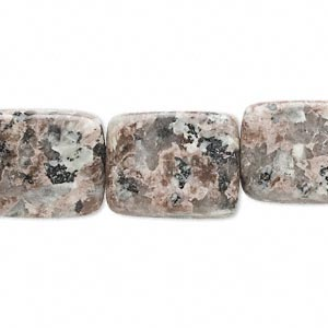 bead, pink feldspar (natural), 15x13mm-21x16mm rounded flat rectangle, c grade, mohs hardness 6 to 6-1/2. sold per 16-inch strand.