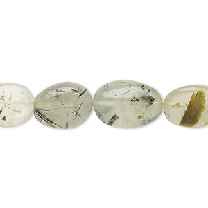 bead, prehnite (natural), 12x9mm-17x11mm hand-cut flat oval, c+ grade, mohs hardness 6 to 6-1/2. sold per 13-inch strand.
