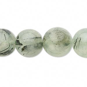 bead, prehnite (natural), 14-15mm round, c grade, mohs hardness 6 to 6-1/2. sold per 15-inch strand.