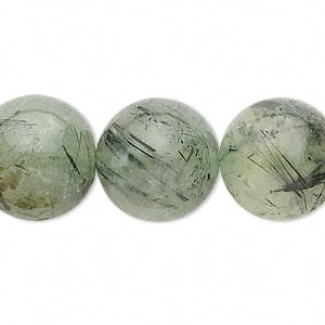 bead, prehnite (natural), 16-17mm round, c grade, mohs hardness 6 to 6-1/2. sold per 15-inch strand.