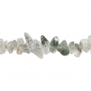 bead, prehnite (natural), medium chip, mohs hardness 6 to 6-1/2. sold per 16-inch strand. minimum 2 per order.