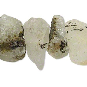 bead, prehnite (natural), medium to large hand-cut rough nugget, mohs hardness 6. sold per 16-inch strand.