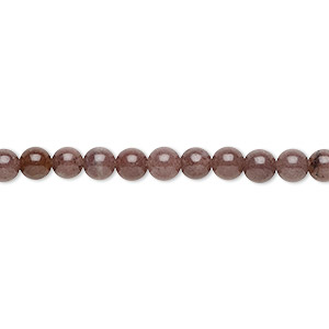 bead, purple aventurine (natural), 4mm round, b grade, mohs hardness 7. sold per 16-inch strand.