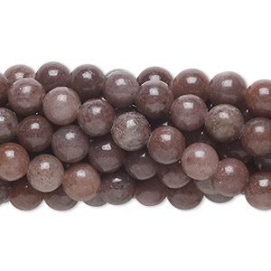 bead, purple aventurine (natural), 6mm round, c grade, mohs hardness 7. sold per pkg of (10) 16-inch strands.