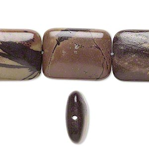 bead, purple creek stone (stabilized), 20x15mm rectangle, b grade, mohs hardness 3-1/2 to 4. sold per 16-inch strand.