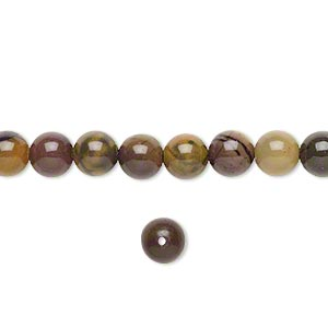 bead, purple creek stone (stabilized), 6mm round, b grade, mohs hardness 3-1/2 to 4. sold per 16-inch strand.