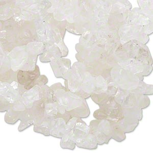 bead, quartz crystal (natural), medium chip, mohs hardness 7. sold per 34-inch strand.