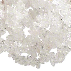 bead, quartz crystal (natural), small hand-cut chip, mohs hardness 7. sold per 36-inch strand.