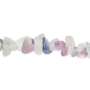 bead, rainbow fluorite (natural), medium chip, mohs hardness 4. sold per 36-inch strand.