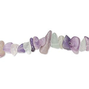 bead, rainbow fluorite (natural), small chip, mohs hardness 4. sold per 35-inch continuous loop.