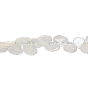 bead, rainbow moonstone (natural), 6-8mm hand-cut top-drilled teardrop, c+ grade, mohs hardness 6 to 6-1/2. sold per 13-inch strand.