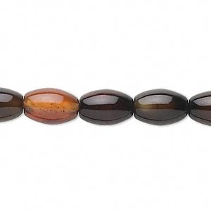 bead, red and black agate (dyed / heated), 12x8mm oval, c grade, mohs hardness 6-1/2 to 7. sold per 15-inch strand. minimum 2 per order.