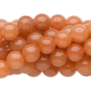 bead, red aventurine (natural), 8mm round, c grade, mohs hardness 7. sold per pkg of (10) 16-inch strands.