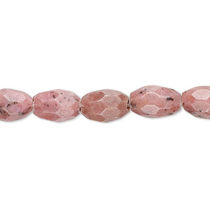 bead, rhodonite (natural), 10x7mm faceted oval, b grade, mohs hardness 5-1/2 to 6-1/2. sold per 16-inch strand.