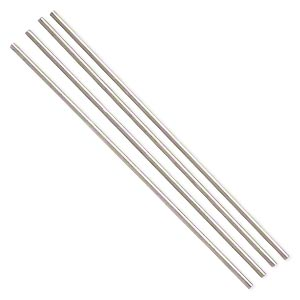 bead rod, nichrome, 6 inches, 9 gauge. sold per 4-piece set.