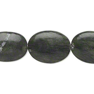 bead, saguaro jasper (natural), 20x15mm-21x16mm puffed oval, b- grade, mohs hardness 2-1/2 to 6. sold per 15-inch strand.
