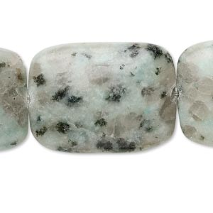bead, sesame jasper (natural), 30x22mm rectangle, c grade, mohs hardness 6-1/2 to 7. sold per 15-inch strand.